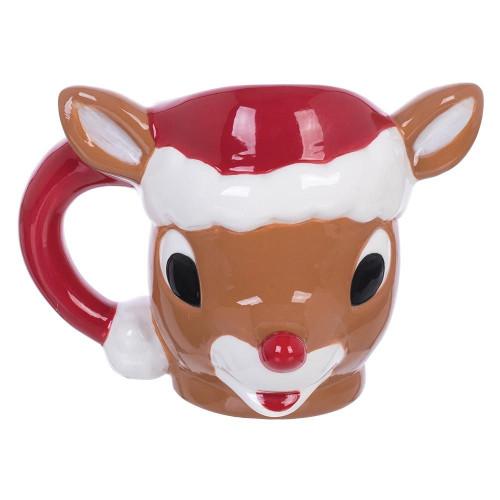 Rudolph The Red-Nosed Reindeer Sculpted Ceramic Mug