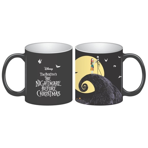 Nightmare Before Christmas Jack and Sally Spiral Hill 16 oz. Ceramic Mug