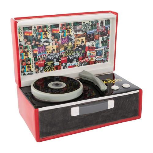 The Beatles Record Player Sculpted Ceramic Cookie Jar