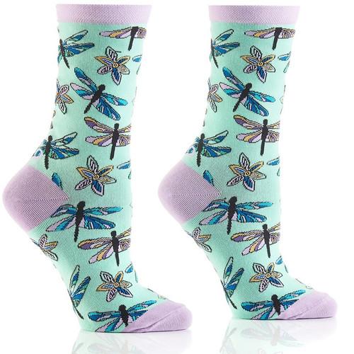 Dragonfly Women's Crew Socks by Yo Sox