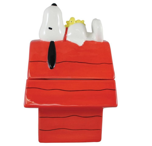 Peanuts Snoopy Doghouse Sculpted Cookie Jar