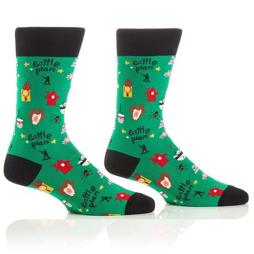 Home Alone Battle Plan Christmas Crew Socks by Yo Socks