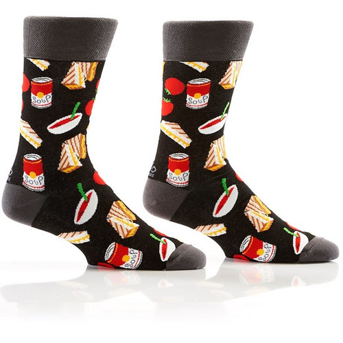 Comfort Food Men's Crew Socks by Yo Socks