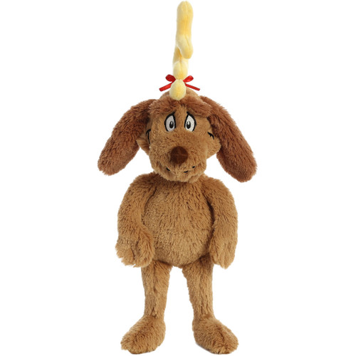 """16"""" Max The Dog From The Grinch Plush Toy By Aurora"""