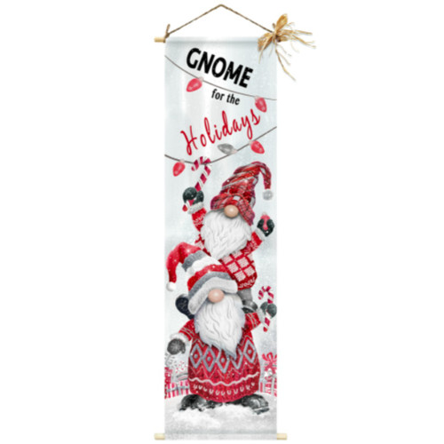 LED Gnome for the Holidays Canvas Door Greeter