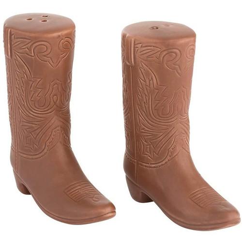 John Wayne Boots Sculpted Ceramic Salt & Pepper Shakers