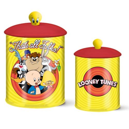 Looney Tunes Bullseye That's All Folks Ceramic Cookie Jar