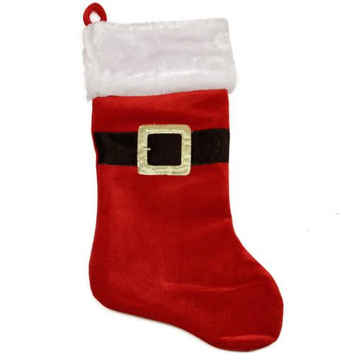 Enormous Santa Belt Velvet Stocking
