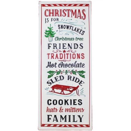 """""""Christmas Is For..."""" Embossed Metal Sign"""
