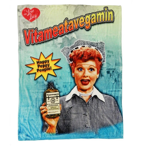 I Love Lucy Vitameatavegamin Throw Blanket