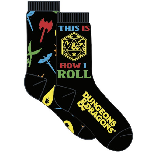 Dungeons and Dragons 2 Pack Crew Socks by Vision Eleven