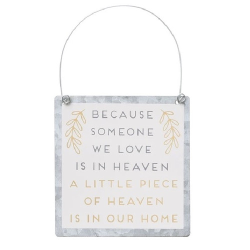 Heaven in Our Home Tin Ornament Sign