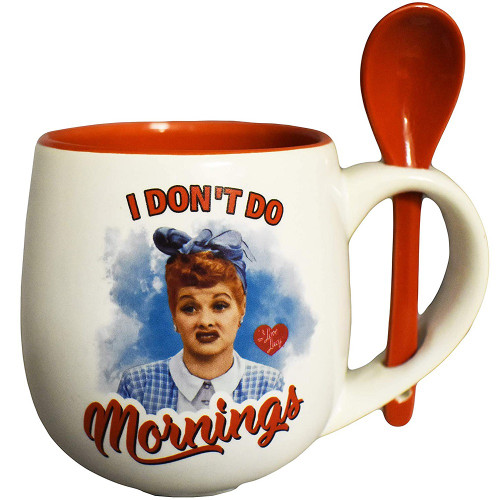 """I Love Lucy """"I Don't Do Mornings"""" Mug with Spoon Set"""