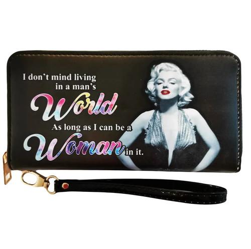 Marilyn Monroe Woman/World Zip Around Wallet