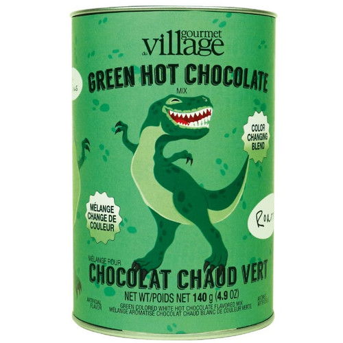 Green Dinosaur Colour Changing Hot Chocolate Canister