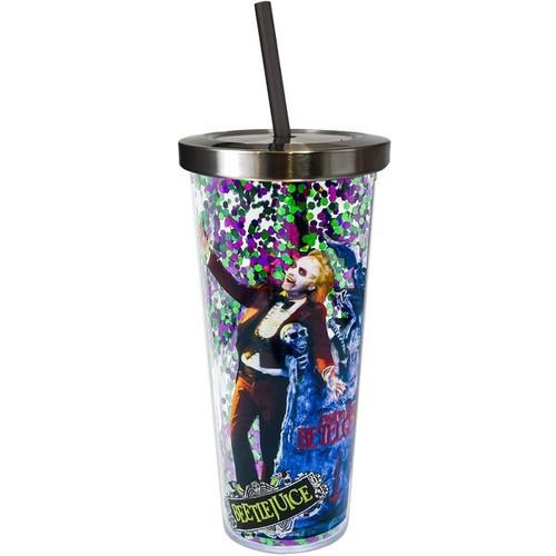 Beetlejuice Glitter Cup