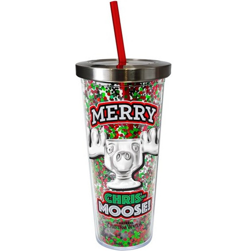 Christmas Vacation Merry Chris-Moose Glitter Cup
