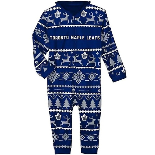 Toronto Maple Leafs NHL Hooded Unisex One Piece Pajamas