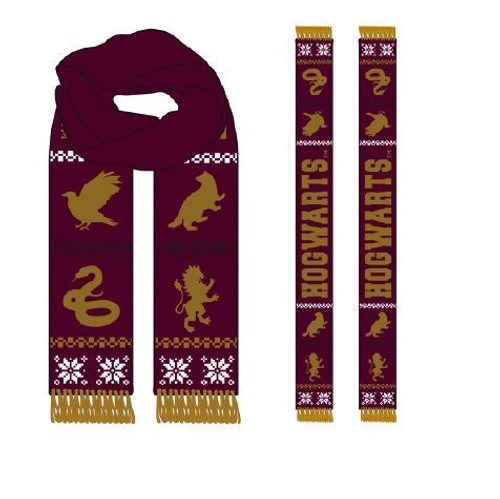 Harry Potter - Hogwarts House's  Holiday Winter Scarf