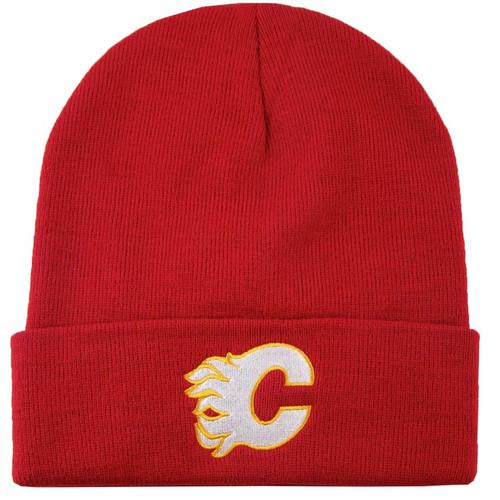 NHL Calgary Flames Cuffed Logo Replica Knit Toque