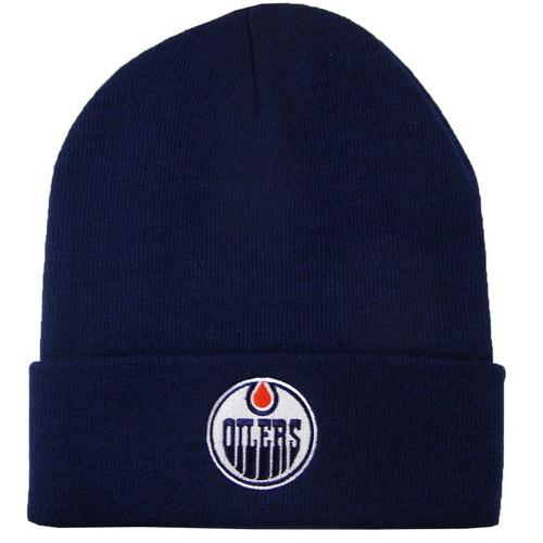NHL Edmonton Oilers Cuffed Logo Replica Knit Toque
