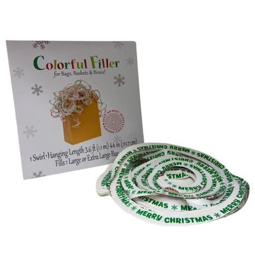 Swirl And Shred Colourful Christmas Prints Gift Bag Filler