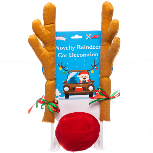 Reindeer Car Nose and Antlers