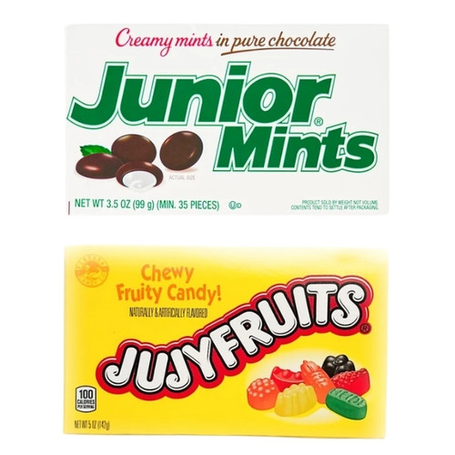 Junior Mints and Jujyfruits Set of 2 Theatre Boxes