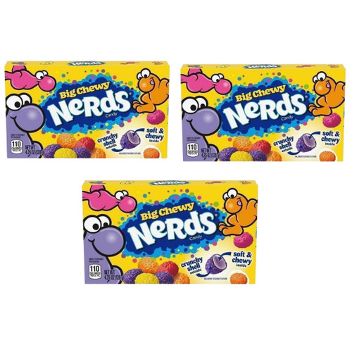 Big Chewy Nerds Theatre Boxes - Set of 3