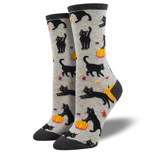Black Cat Halloween Socks by Socksmith