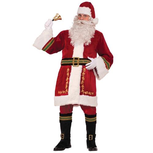 Premium Classic Santa Claus Suit in Garment Bag