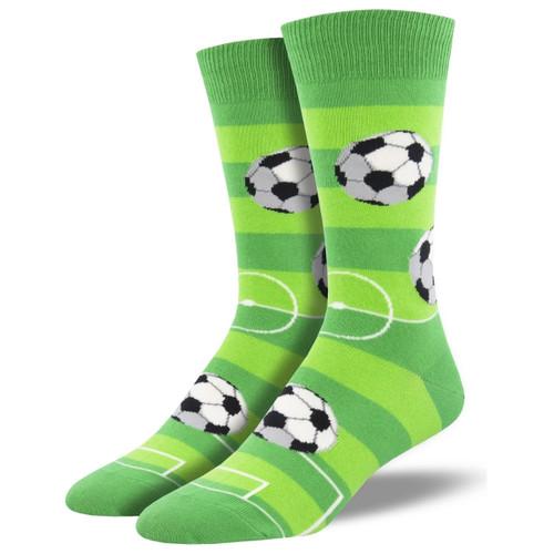 Goal For It Men's Crew Socks by Socksmith Canada
