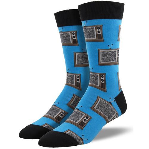 Retro TV Men's Crew Socks by Socksmith Canada