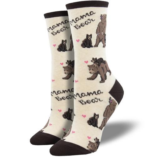 Mama Bear Women's Crew Socks by Socksmith Canada