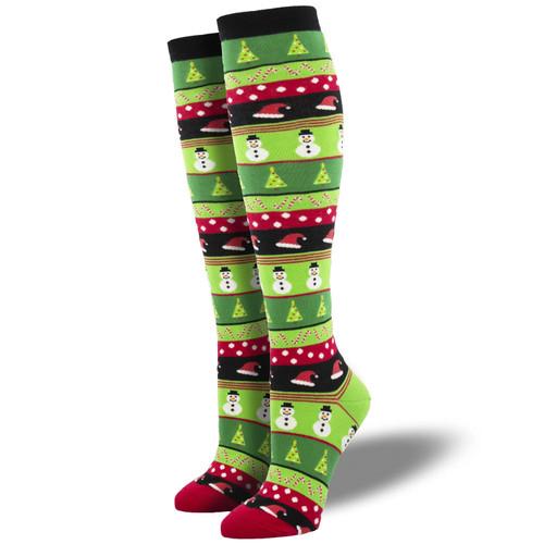 Christmas Icons Women's Knee High Socks by Socksmith Canada