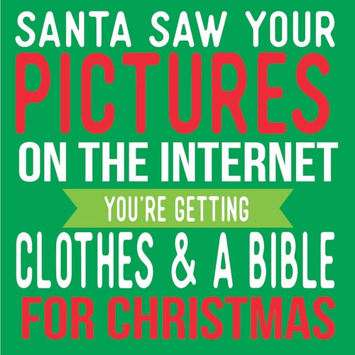 Santa Saw Your Pictures Cocktail Napkins
