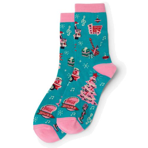 Women's Rockin Holidays Socks  by Hatley