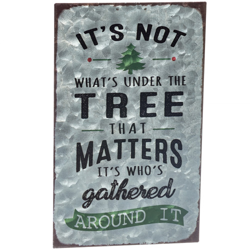It's Not What's Under the Tree Metal Sign