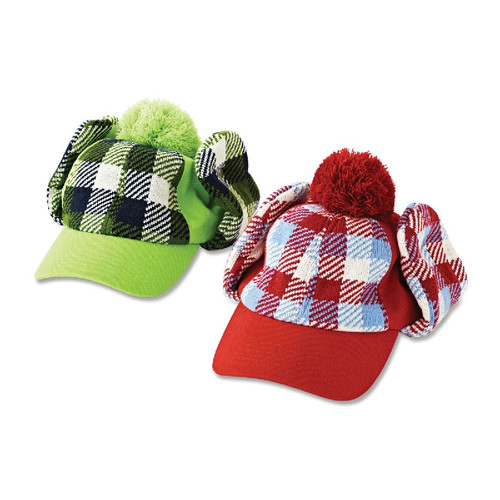 Plaid Trucker Winter Hats - Available in Red or Yellow