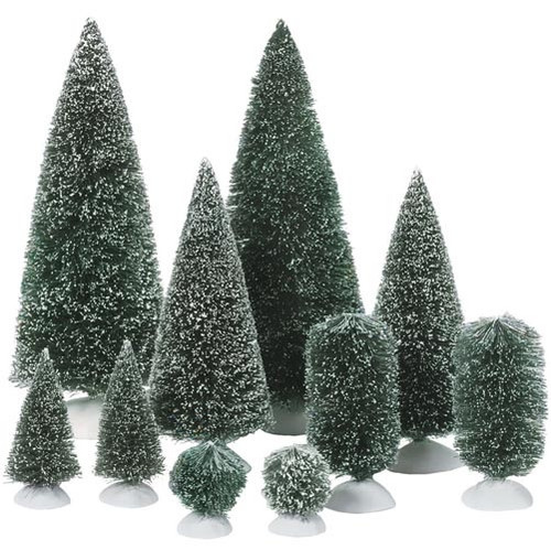 Department 56 Christmas Village Accessories Bag-O-Topiaries Trees