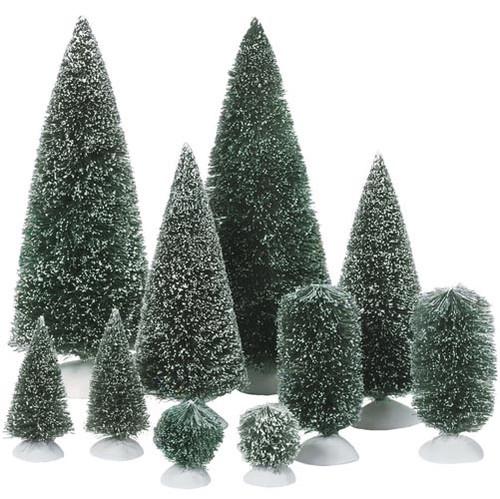 Christmas Village Accessories.Dept 56 Village Accessories Bag O Topiaries Set Of 10