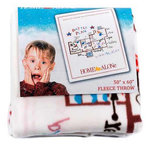 Home Alone Fleece Blanket - Battle Plan Art