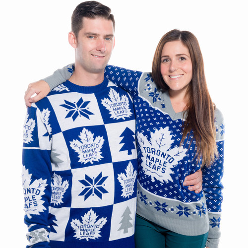 a13c5cda2b4 Ladies Toronto Maple Leafs Ugly Christmas Sweater NHL 2016 His and Hers ...