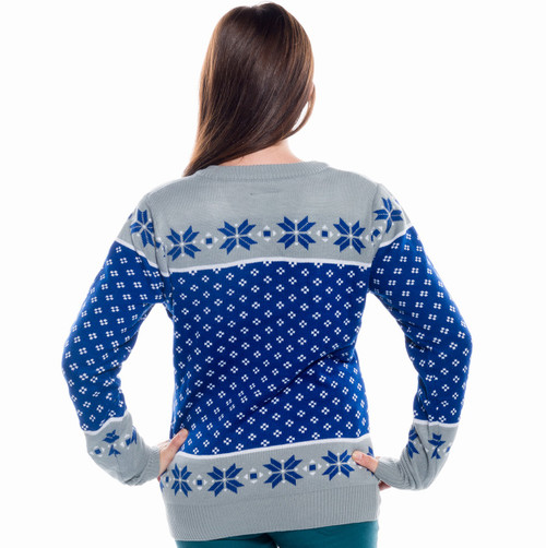 5d89ad88e29 ... Ladies Toronto Maple Leafs Ugly Christmas Sweater 2016 NHL (Back) ...