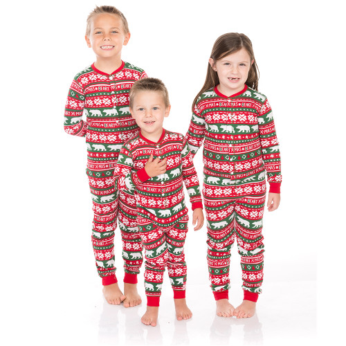 Kids Christmas Pajamas.Beary Xmas Kids Christmas Jammies By Hatley
