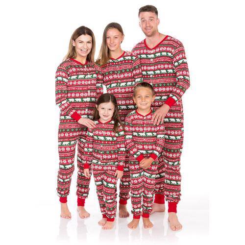 Family Christmas Pajamas Blue.Beary Xmas Kids Christmas Jammies By Hatley