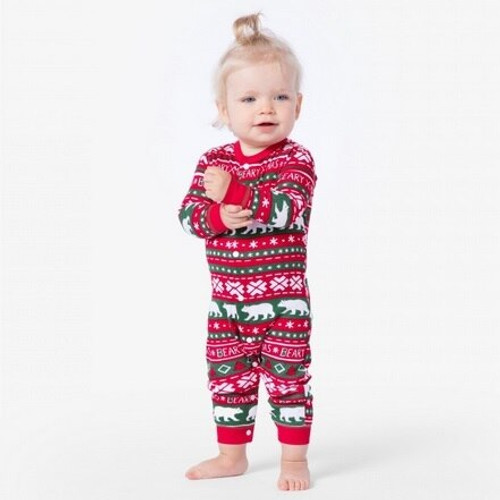 Christmas Onesie.Beary Xmas Baby Christmas Onesie Union Suit Pjs By Hatley