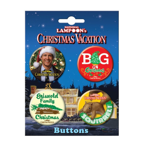 Christmas Vacation Buttons Set of Four