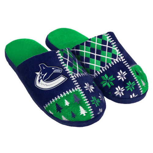 Men's Vancouver Canucks Ugly Sweater Slippers