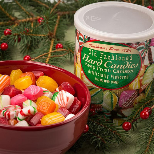 Old Fashioned Christmas Candy 16oz Retro Canister